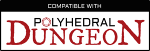 Compatible With Polyhedral Dungeon Logo - Black
