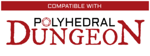 Compatible With Polyhedral Dungeon Logo - White